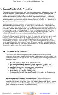 real estate investing business plan template real estate investing business plan excerpt determining