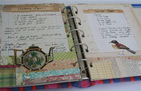 Handmade Recipe Book Ideas - a scrapbook of me organizing your recipes
