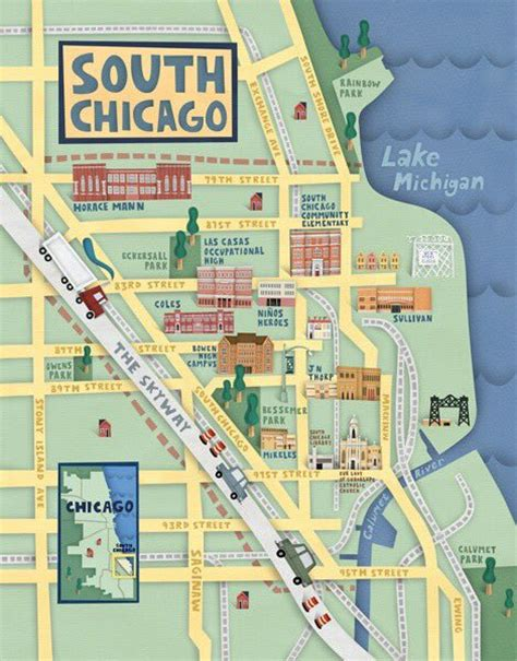 chicago map illustration 18 gorgeous illustrated maps of chicago upout blogupout