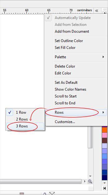 tutorial belajar corel draw x7 pdf cara menilkan penuh color palette pada coreldraw