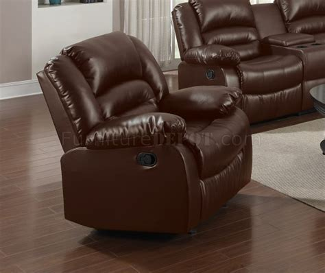 bonded leather sectional sofa with recliners 9242 reclining sofa in brown bonded leather w options