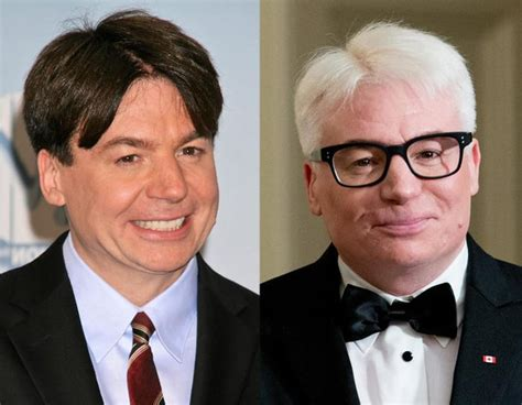 mike myers grey mike myers then and now 9gag