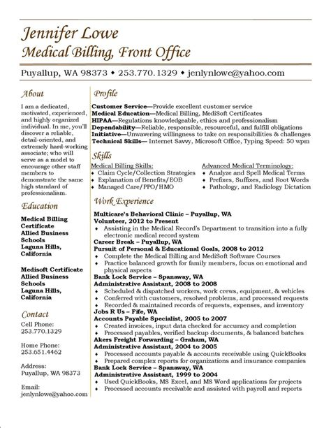 Billing Resumes Lowe Resume Billing Resume Career