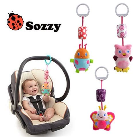 New 3 Pcs Set Baby Plush Soft Cute Toy Crib Car Hanging Baby Toys Above Crib