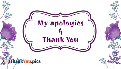 My Apologies by My Apologies And Thank You Thankyou Pics