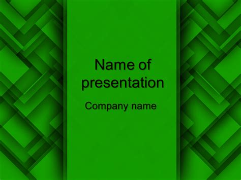 Download Free Green Abstract Powerpoint Template For Your Presentation Green Powerpoint Templates Free