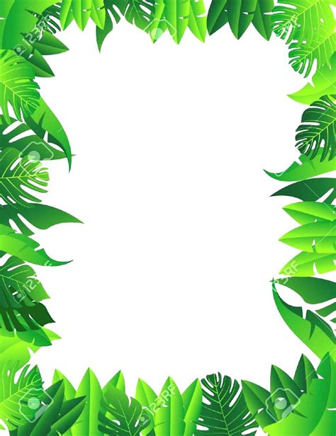 lined paper with rainforest border jungle border writing paper www pixshark com images