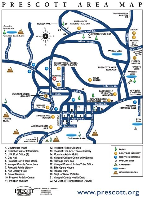 map of arizona prescott prescott area map prescott arizona mappery