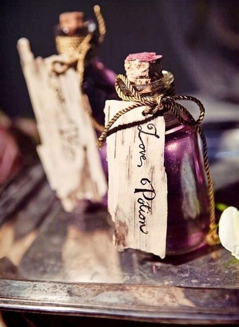 potion romeo and juliet favors wedding table setting ideas boho chic rustic farm house