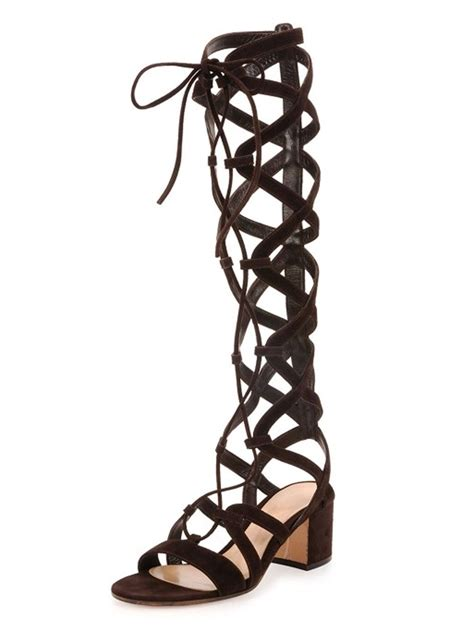 knee high lace up sandals black suede lace up knee high gladiator sandals choies