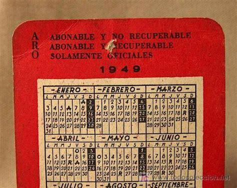 Calendario De 1949 Calendario 1949 Ulloa Aro Optica Comprar Calendarios