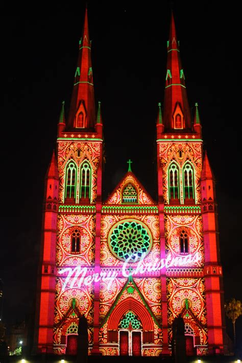 sydney city and suburbs st mary s cathedral lights of
