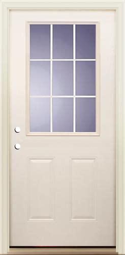 Vinyl Clad Exterior Doors Mastercraft 174 I 4 36 Quot X 80 Quot Smooth Fiberglass Flush Glaze 9 Lite Vinyl Clad Prehung Exterior Door
