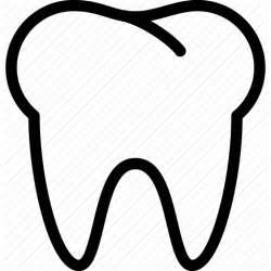 Tooth Writing Template by Tooth Outline Clipart