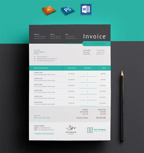 invoice layout ideas awesome invoice design template images resume ideas