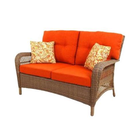 martha stewart charlottetown loveseat martha stewart living charlottetown 2012 brown all weather