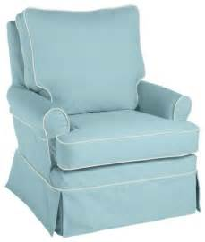 glider pale aqua twill with white twill piping