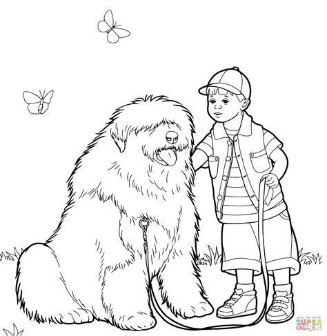 sheep dog coloring page old english sheepdog bobtail coloring page free