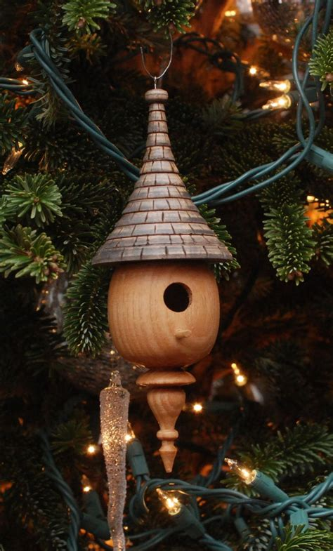 woodturning christmas decorations a wood turned mini birdhouse ornament tournage ornaments birdhouses