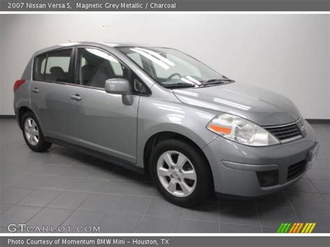 grey nissan versa magnetic grey metallic 2007 nissan versa s charcoal