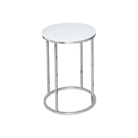 white and silver side table buy this gillmore space glass silver side table from