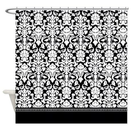 black damask shower curtain black damask shower curtain by inspirationzstore