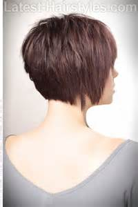 front and back views of chopped hair choppy bob hairstyles on pinterest straight weave