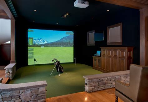 room design simulator gym golf simulator traditional home gym boston