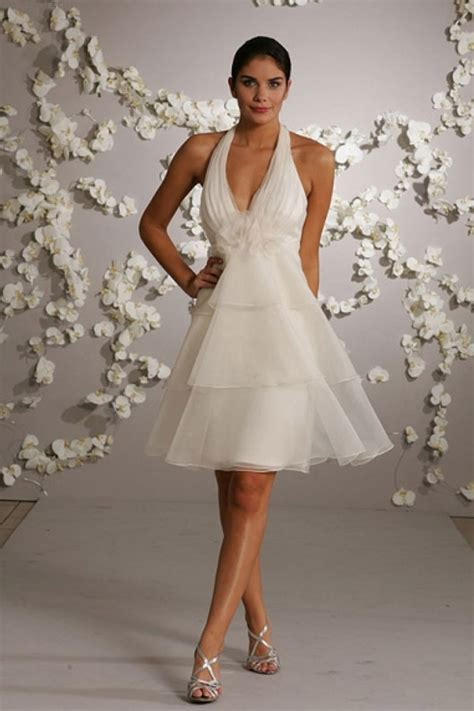 Short Halter Wedding Dresses   Styles of Wedding Dresses