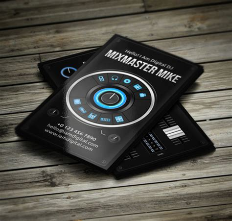 dj business card template psd free 11 amazing business card templates for dj s cardrabbit