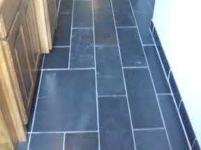 Blue slate tile bathroom
