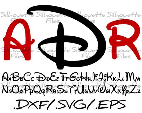 lettere alfabeto disney disney silhouette alphabet font design for use with your