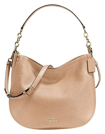 Coach Leather Bag Beechwood by Coach Chelsea Pebble 32 Hobo 58036 Beechwood Leather Shoulder Bag Tradesy