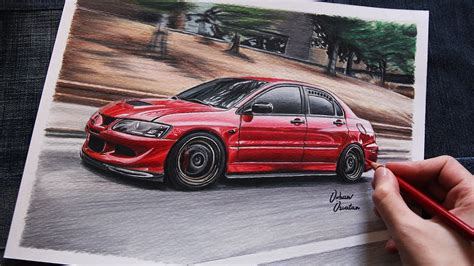 mitsubishi evo drawing mitsubishi evo 8 usa car drawing