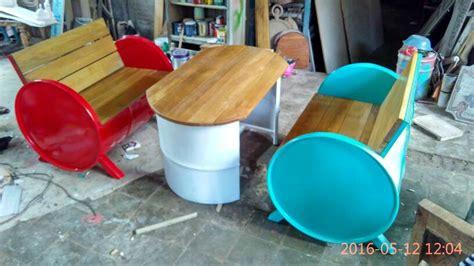 Kursi Tong Bekas jual kursi drum bekas kursi cafe aura mustika furniture di omjoni