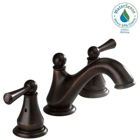 venetian bronze bathroom faucet delta lewiston 8 in widespread 2 handle bathroom faucet in venetian bronze 35902lf rb