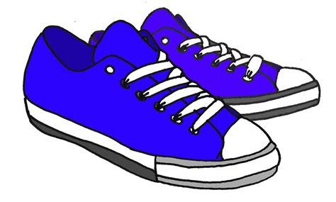 Sepatu Wanita Kets Bintang Hitam ilustrasi gratis kartun ditarik biru sepatu gambar