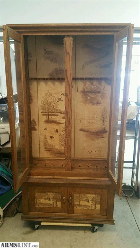armslist for sale trade wooden gun cabinet