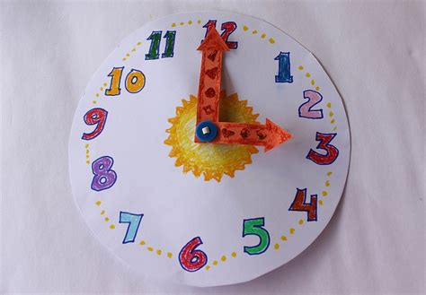 Make Paper Clock - make a paper clock for teaching time clock teaching and