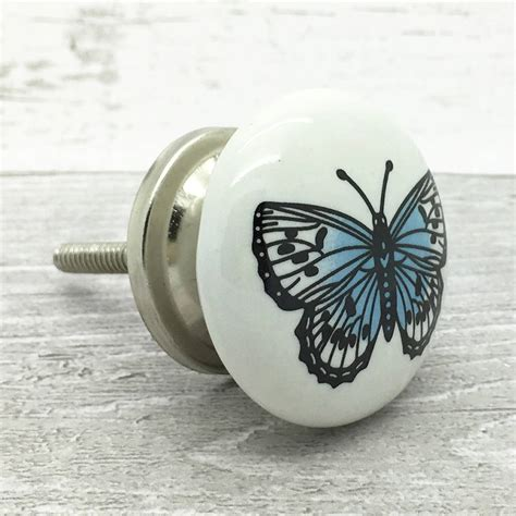 Butterfly Door Knobs by Big Butterfly Ceramic Door Knob Cupboard Drawer Handle By G Decor Notonthehighstreet
