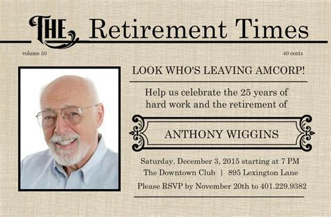 retirement flyer template free printable retirement
