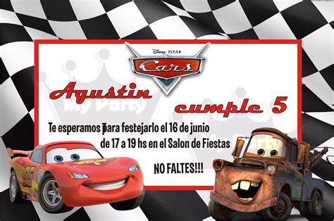 imagenes cumpleaños de cars invitaciones personalizadas princesas cars bob esponja and
