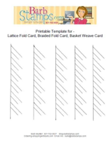 braided tree card template lattice fold and free printable template