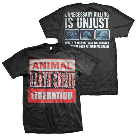 Animal Liberation Front T Shirt earth crisis animal liberation t shirt black victory merch