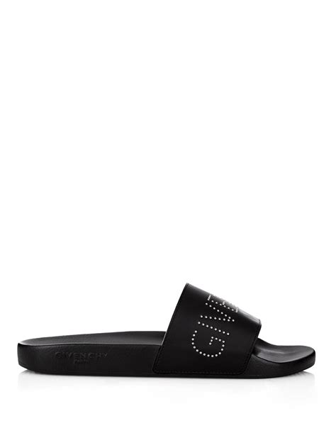 givenchy rubber sandals givenchy rubber pool slide sandals in black for lyst