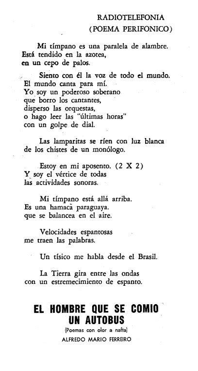 poema para una niña 1927 radiotelefon 237 a poema perif 243 nico alfredo mario