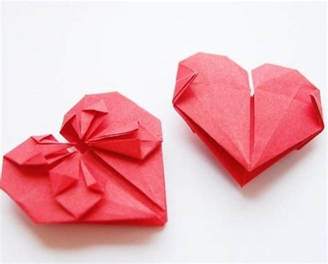 Valentines Day Origami - family origami activity for s day district of