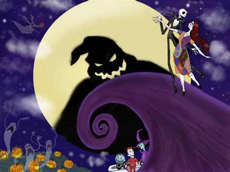 wallpaper nightmare before christmas jack and sally jack skellington and sally wallpaper wallpapersafari
