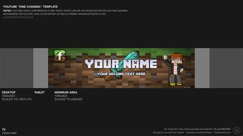 minecraft youtube banner template dowload by iblyzz on