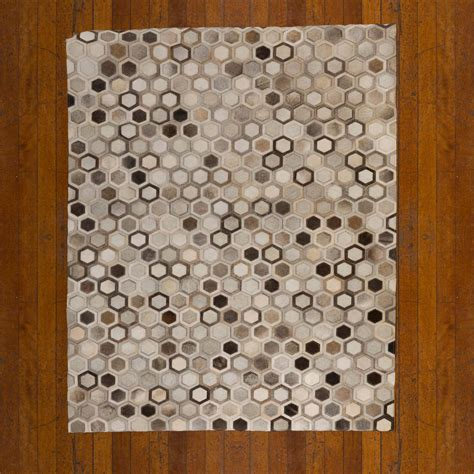 Patchwork Cowhide Leather Rugs - patchwork leather cowhide rug 12p5106 140x200cm 2